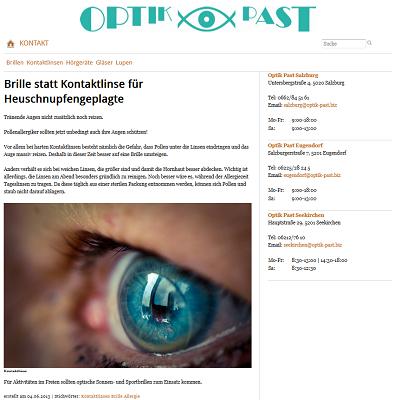 Optik Past Relaunch 2013